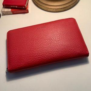 Matt & Nat vegan red wallet pocket book